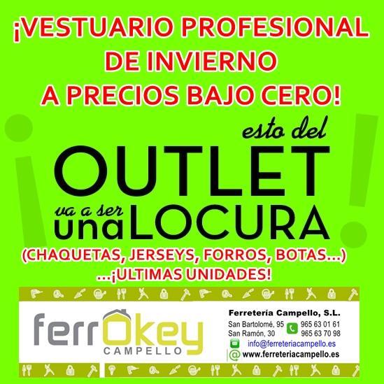 Vestuario profesional a precios bajo cero ferrokey campello for Ferrokey jardin 2016